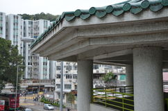 Chinese-Style Design of Nam Shan Public Housing Estate in Hong Kong Stock Images