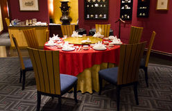 Chinese style dinner table Stock Photography