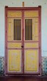 Chinese-style door stock photo