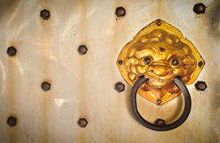 Chinese style door knocker Royalty Free Stock Photos