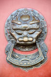 Chinese style doorknocker Royalty Free Stock Photos