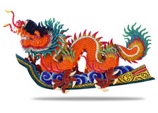Chinese style dragon. On white background Stock Photo
