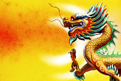 Chinese style dragon. Statue stock image