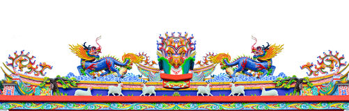 Chinese style dragon and sheep statue Stock Image