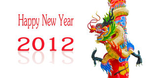 Chinese style dragon statue with 2012 Stock Photos
