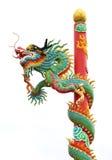 Chinese style dragon statue. Ancient animal art asia asian bayonet big blue china stock images