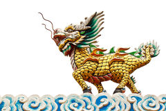 Chinese style dragon statue Royalty Free Stock Images