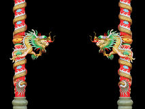 Chinese style dragon statue. Royalty Free Stock Photography