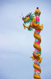 Chinese style dragon statue. In thai temple stock photography