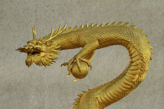 Chinese style dragon statue at chonburi Stock Images