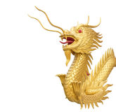 Chinese style dragon statue  with clipping path . Stock Photo