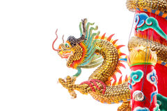 Chinese style dragon statue Stock Image