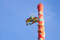Chinese style Dragon Statue. Royalty Free Stock Photos