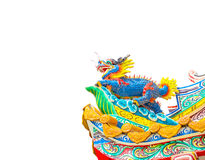 Chinese style dragon statue isolate Stock Photo
