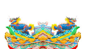 Chinese style dragon statue isolate Royalty Free Stock Photos