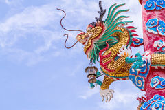 Chinese style dragon statue on natural light Stock Images