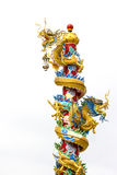 Chinese style dragon statue Stock Photos
