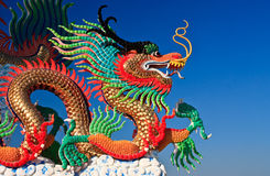 Chinese style dragon statue, taken in Thailand Royalty Free Stock Image
