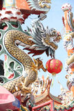 Chinese style dragon statue in temple Royalty Free Stock Images