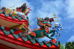Chinese style dragon. Statue in thailand Royalty Free Stock Photos