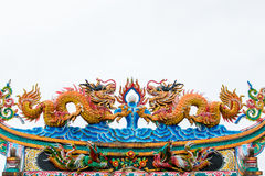 Chinese style dragon statue Stock Photo