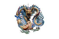 Chinese style dragon statue. Royalty Free Stock Photo