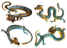Chinese style dragon views Royalty Free Stock Photography