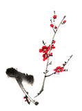 Chinese-style drawings, sketches, plum flower Royalty Free Stock Photos