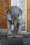 Chinese style elephant statue Stock Photography