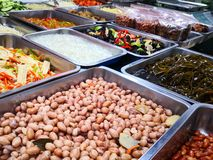 A chinese style entree stall. With peanuts and vegatables royalty free stock photography