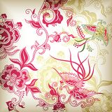 Chinese style floral and bird Stock Images