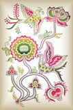 Chinese style floral and bird Stock Image