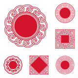 Chinese Style Frames. Some frames,circle and square patterns of chinese style.(This file contains eps10 and No less than 5000×5000 pixels,jpeg formats royalty free illustration