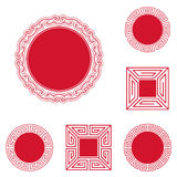 Chinese Style Frames Stock Photography