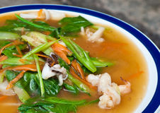Chinese style fried kaoyteow with seafood Stock Image