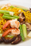 Chinese style fry noodle with vegetables Stock Photos