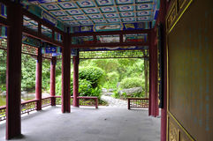 Chinese style garden. A Chinese courtyard classical breath Stock Photo