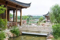 Chinese style garden stock image