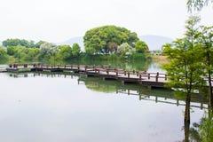 Chinese style garden stock photos