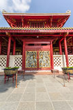 Chinese style gate. At bangpa-in palace royalty free stock images