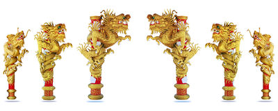 Chinese style gold dragon 2012 background. Chinese style gold dragon on white background Stock Photography