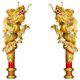 Chinese style gold dragon. Chinese style dragon on white background Royalty Free Stock Images