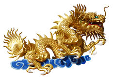 Chinese style gold dragon. Chinese style dragon on white background Stock Images