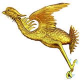 Chinese style Gold Phoenix Royalty Free Stock Image