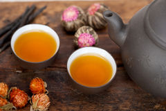 Chinese style herbal floral tea Royalty Free Stock Image