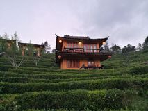 Chinese style house. S on the hill for tourists Stock Photography