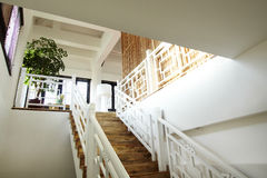 Chinese style house Stairs Stock Photo