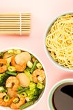 Chinese Style King Prawn With Ginger And Spring Onions Royalty Free Stock Photo