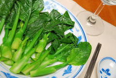 Chinese style leafy vegetables Royalty Free Stock Images