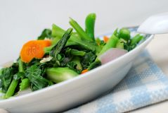 Chinese style leafy vegetables Stock Image